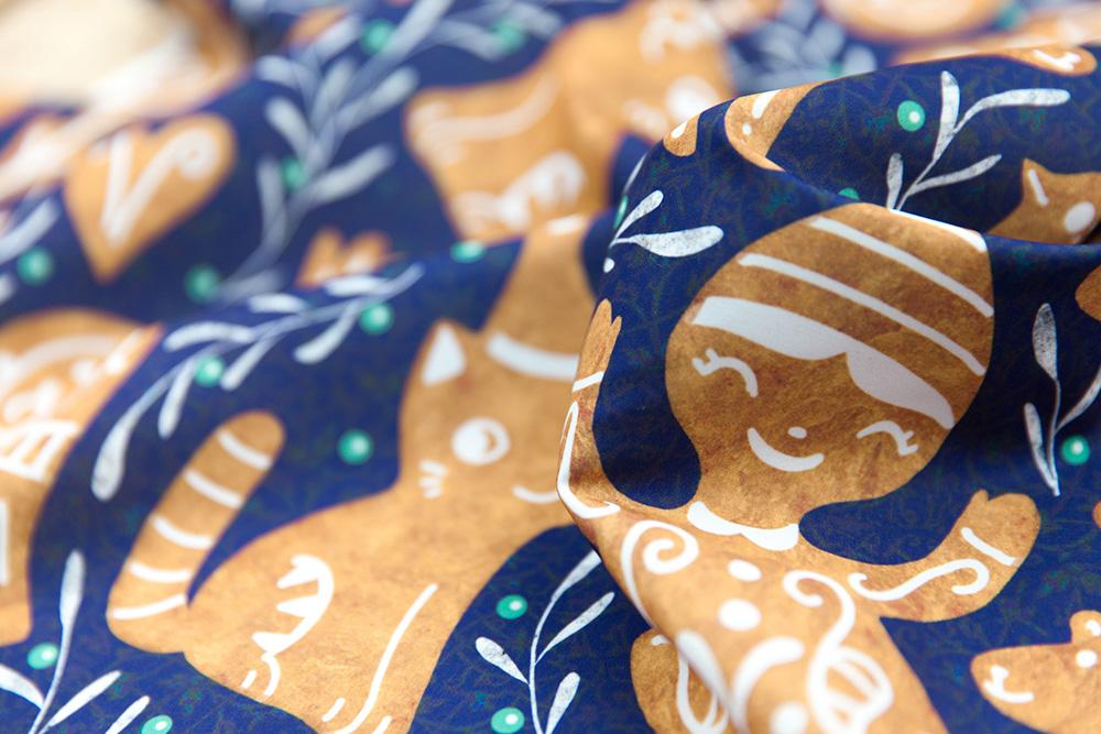 Gingerbread Design Challenge Winner: gaiamarfurt | Spoonflower Blog