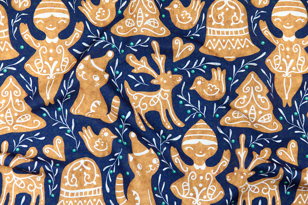 Gingerbread Design Challenge Winner: gaiamarfurt | Spoonflower Blog