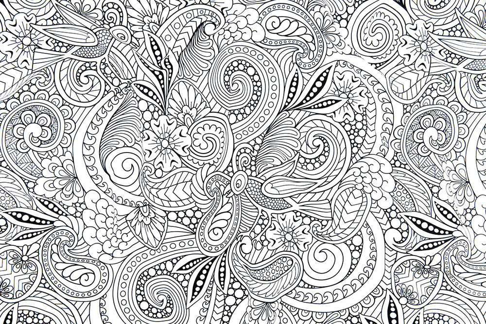 Lake Coloring Book Design Challenge Winner: dearchickie | Spoonflower Blog