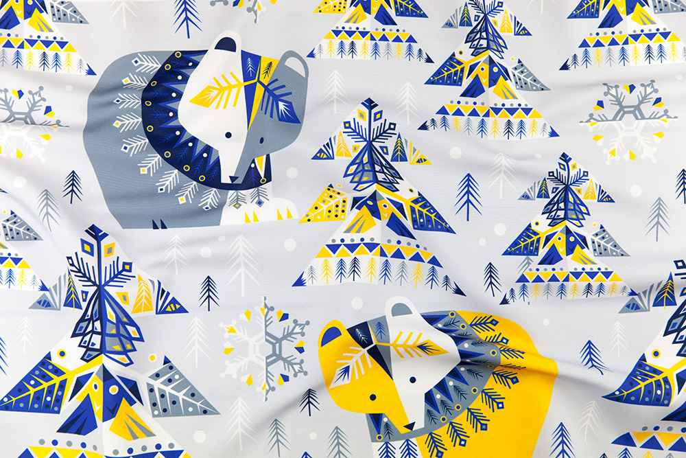 Winter Mod Limited Color Palette Design Challenge Winner | Spoonflower Blog
