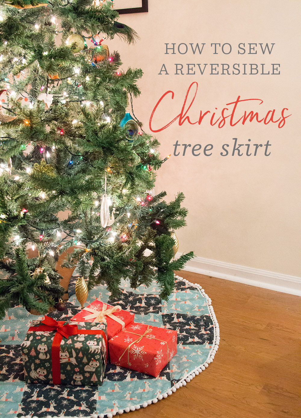 Handmade holiday how to diy christmas tree skirt
