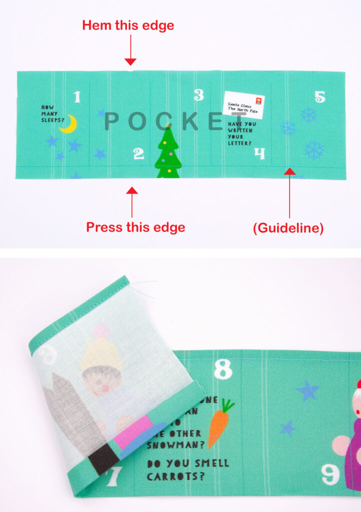 DIY Advent Calendar - Hem the edges | Spoonflower Blog
