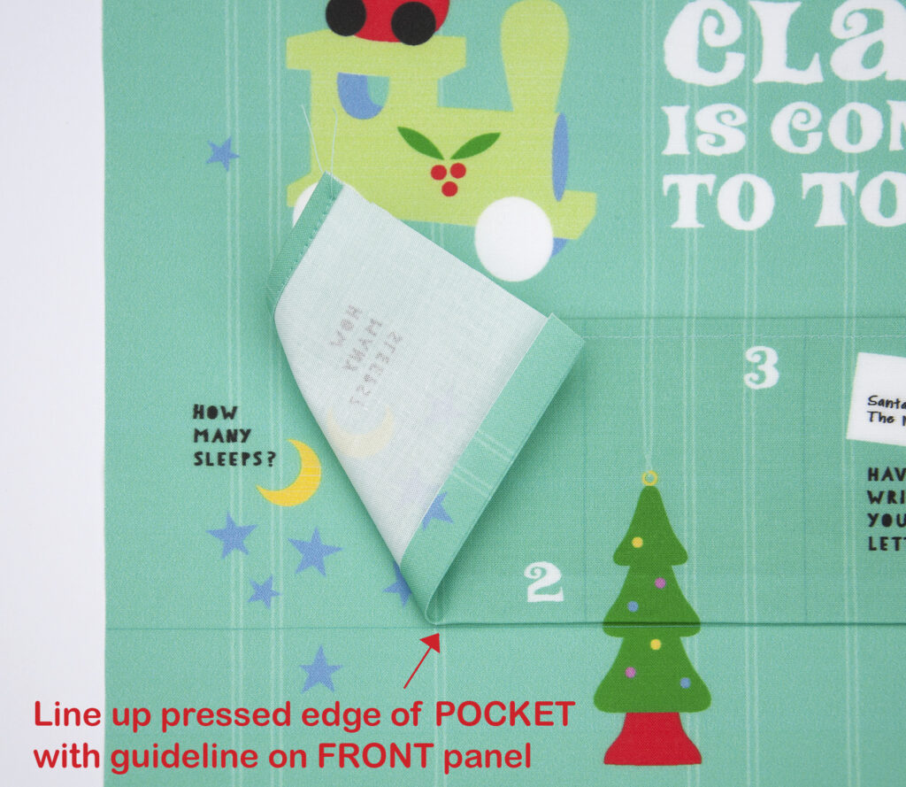 DIY Advent Calendar - Attach pockets | Spoonflower Blog