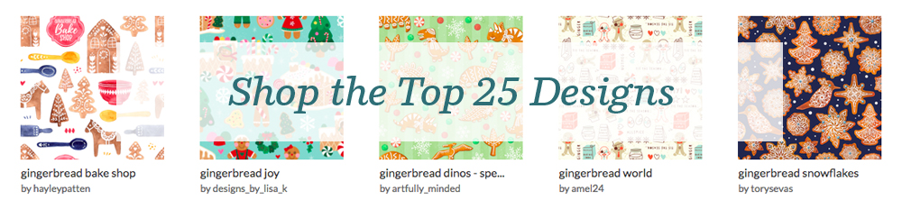 Shop the top 25 Gingerbread designs | Spoonflower Blog