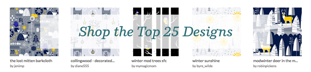 Shop the top 25 Winter Mod Designs | Spoonflower Blog