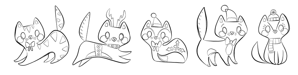 Gingerbread Kitties by ThereWillBeCute