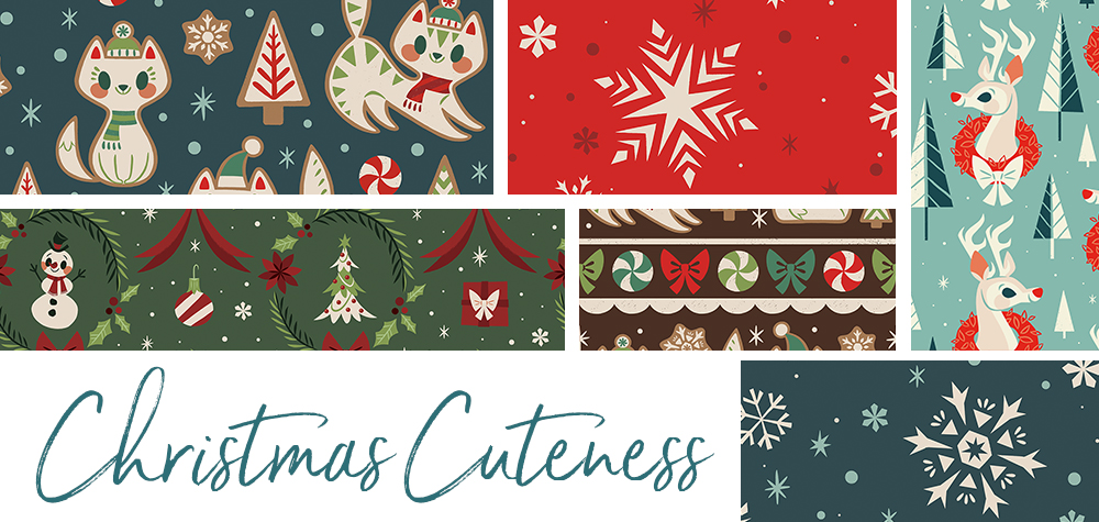 Christmas Collection by Caley Hicks of ThereWillBeCute | Spoonflower Blog