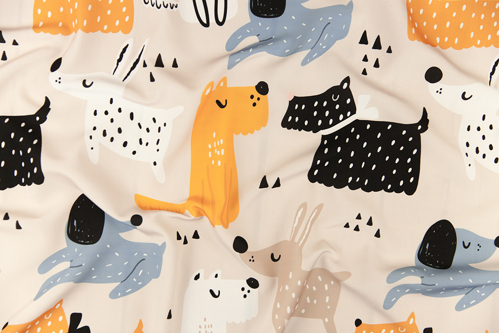 Yellow Funky Dogs by solodkayamari | Spoonflower Blog
