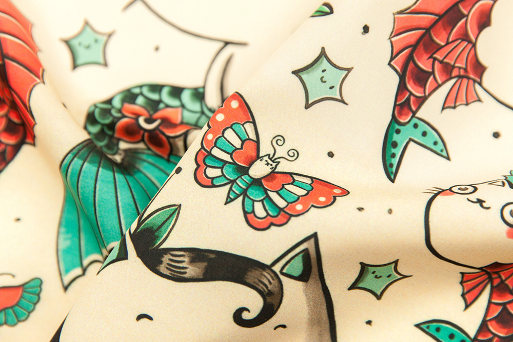 Grand prize winner in the Tattoos design challenge: monika_suska : Spoonflower Blog