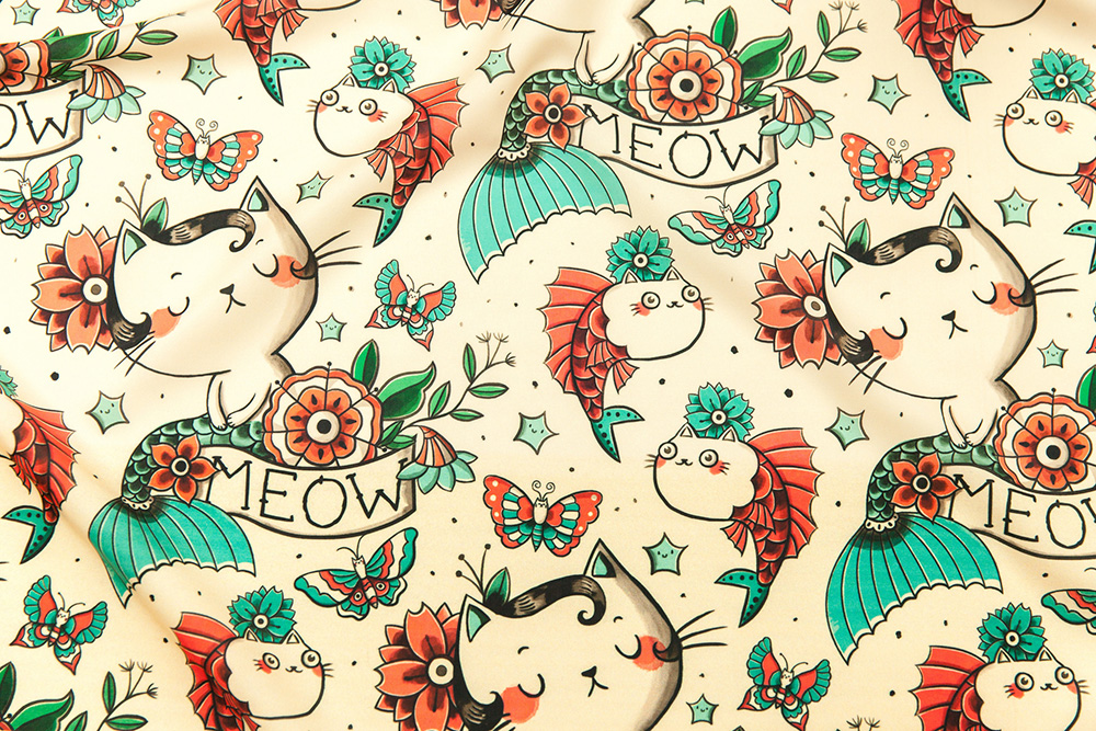 Grand prize winner in the Tattoo Design Challenge: monika_suska | Spoonflower Blog