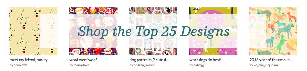 Shop the top 25 Year of the Dog designs | Spoonflower Blog