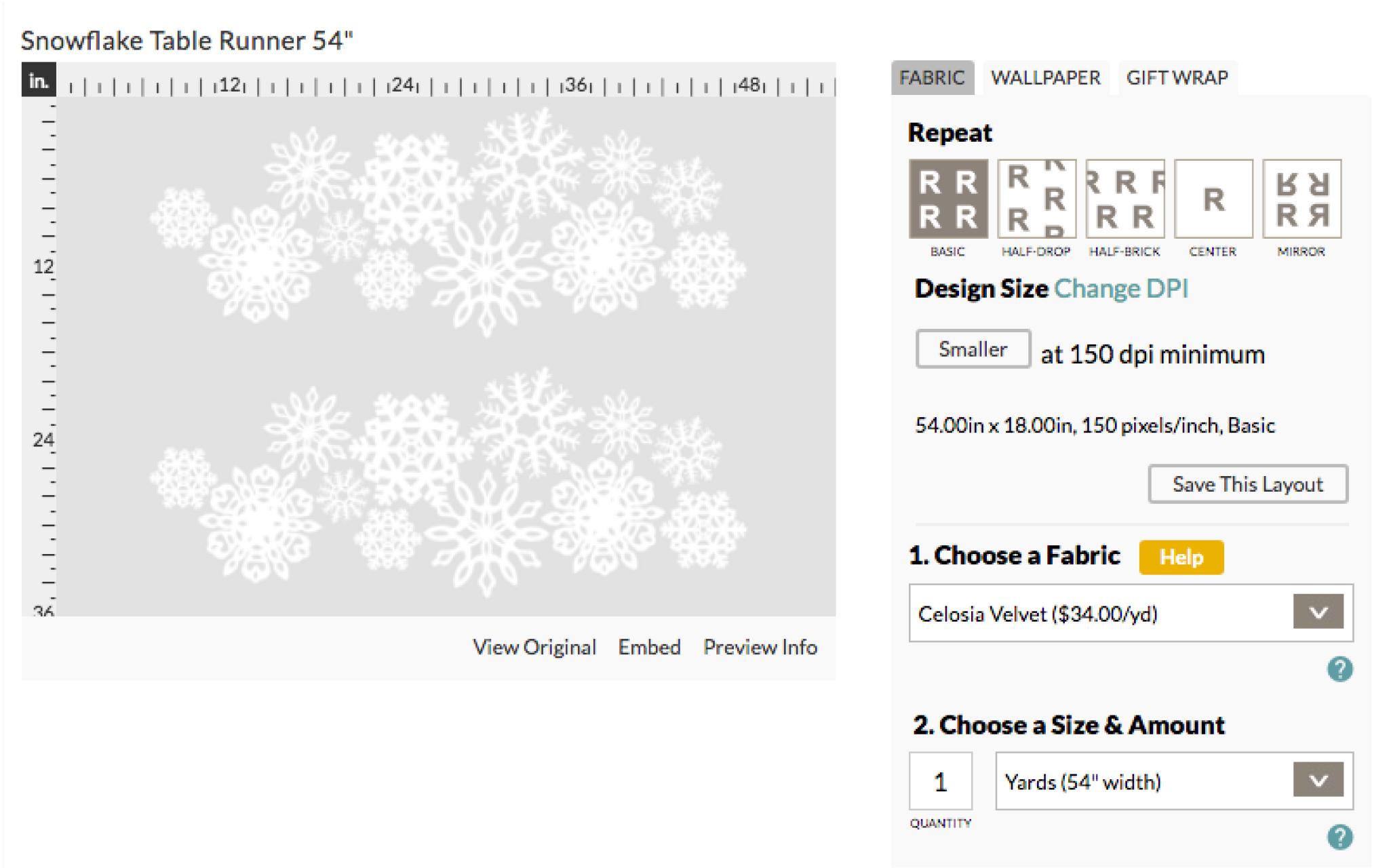 Order your snowflake fabric on Celosia Velvet | Spoonflower Blog
