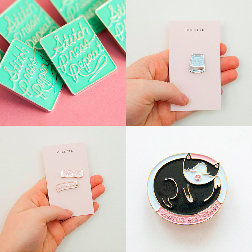 Win a Colette Enamel Pin bundle: The Ultimate Craft Day Giveaway | Spoonflower Blog