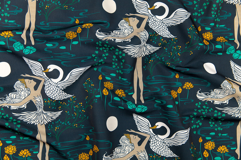 Swan Lake - Odette by ceciliamok | Spoonflower Blog