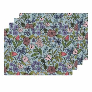 Lamona Cloth Placemats from Roostery | Spoonflower Blog