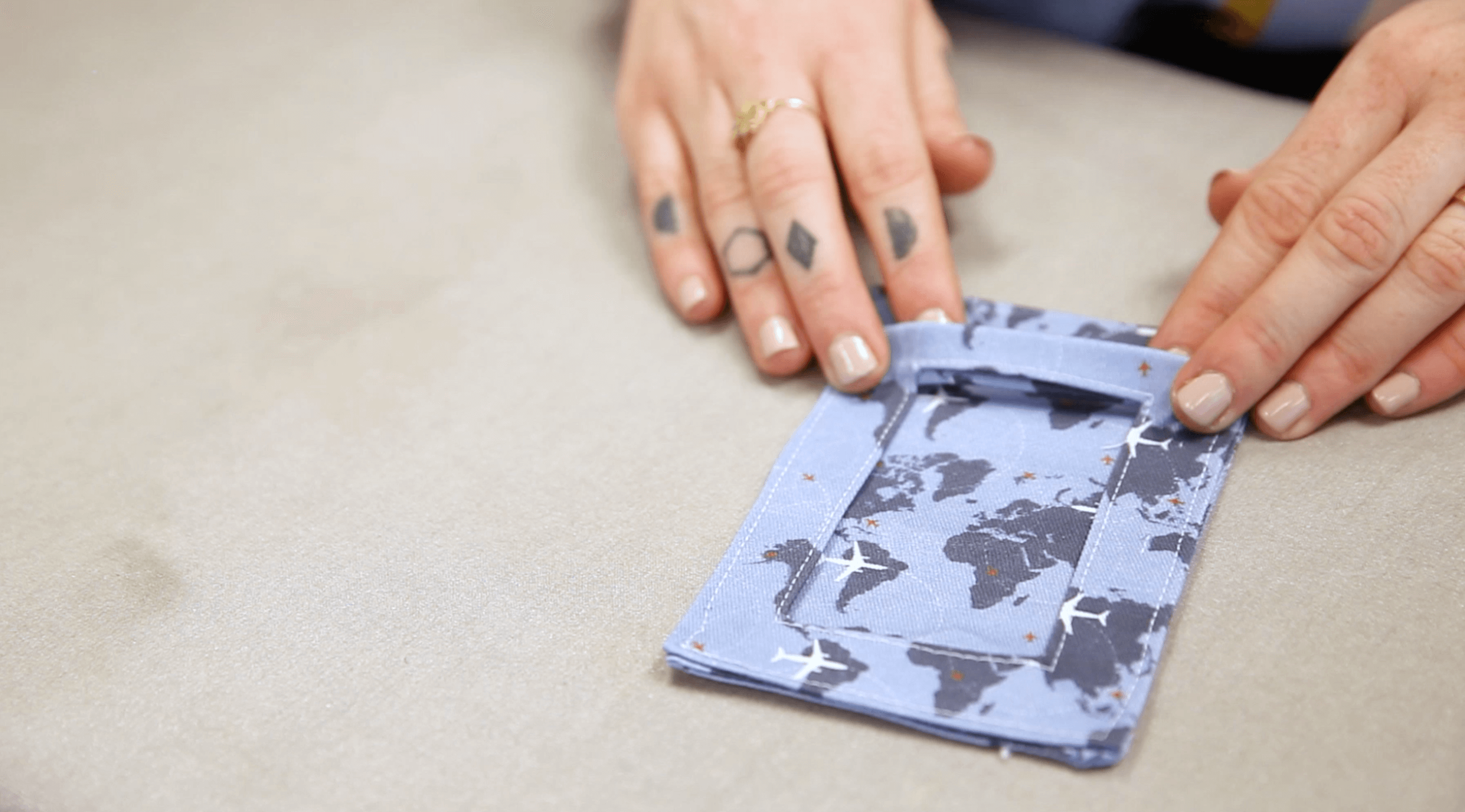 Travel in Style with These DIY Fabric Luggage Tags | Spoonflower Blog