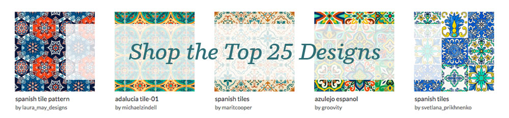Shop the top 25 Spanish Tile designs | Spoonflower Blog