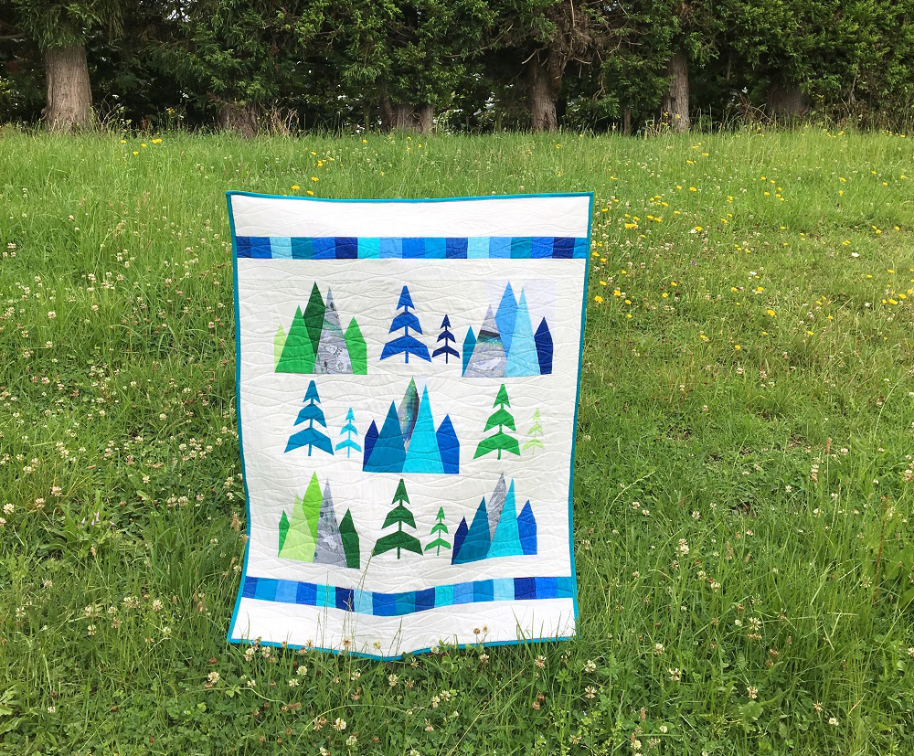 Kristy Lea's quilt inspired by Arctic Song by nouveau_bohemian | Spoonflower Blog