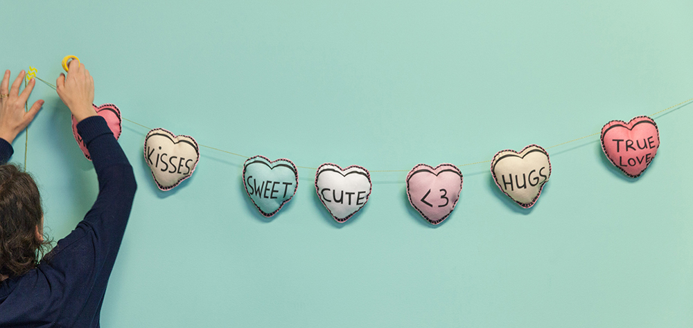 Hand the fabric candy hearts | Spoonflower Blog