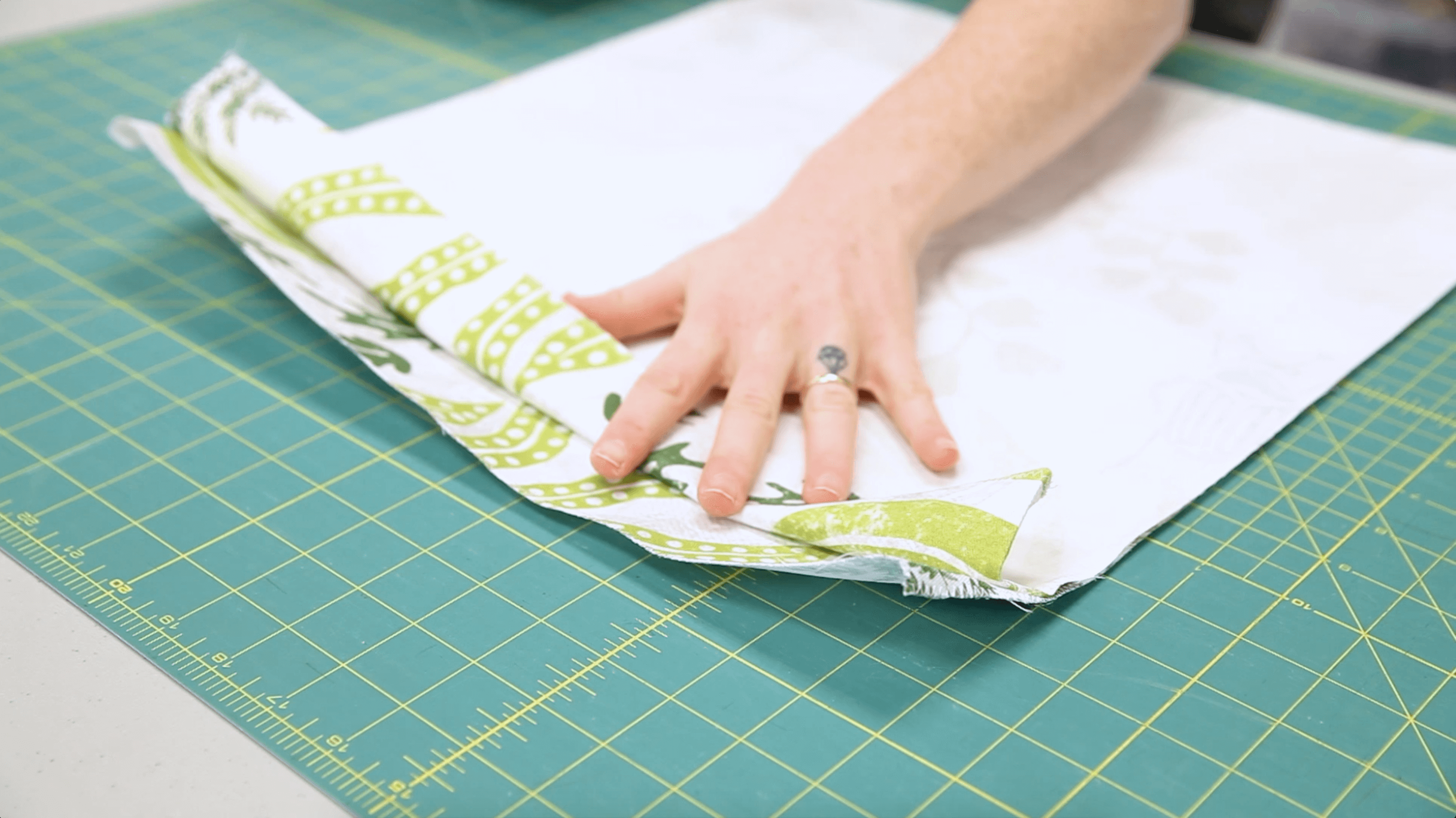 DIY Drawstring Backpack - fold down the top portion of the bag | Spoonflower Blog