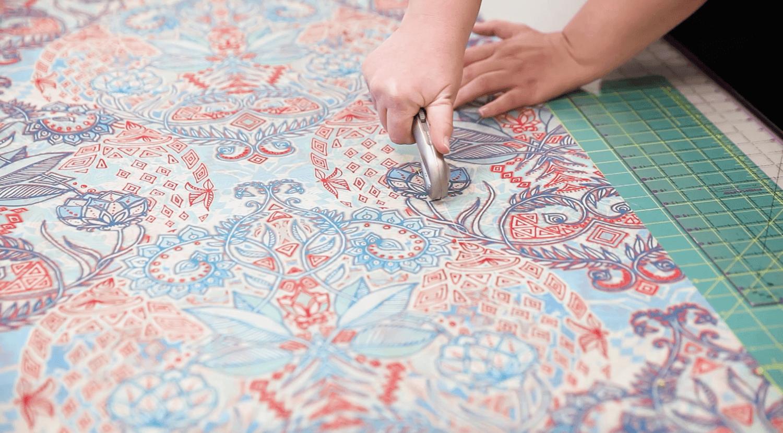 DIY Chiffon Kimono - cut the fabric | Spoonflower Blog