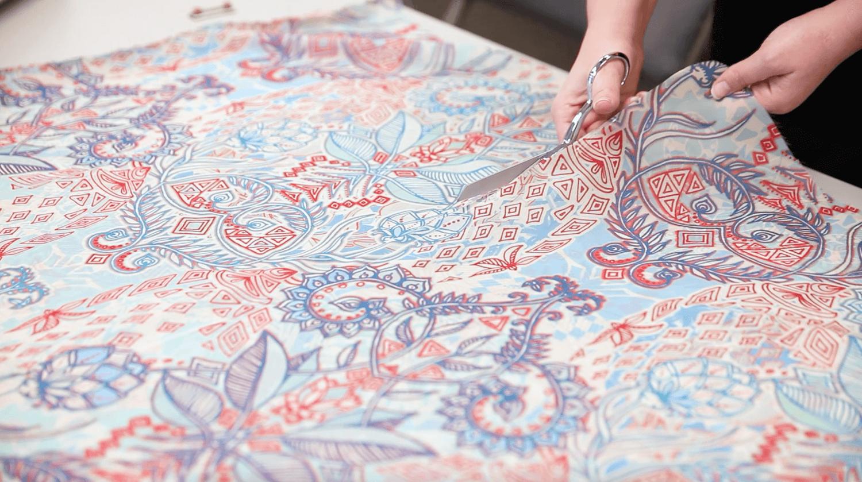 DIY Chiffon Kimono - create the opening | Spoonflower Blog