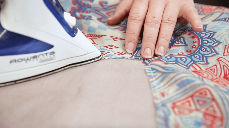 DIY Chiffon Kimono - press your seams | Spoonflower Blog