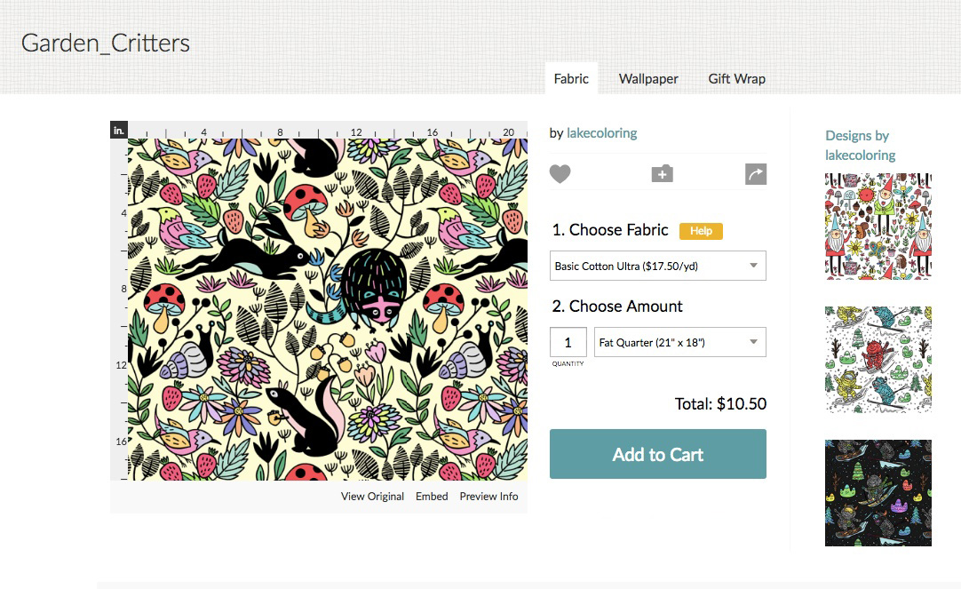 Order your Lake design on fabric, wallpaper and gift wrap | Spoonflower Blog