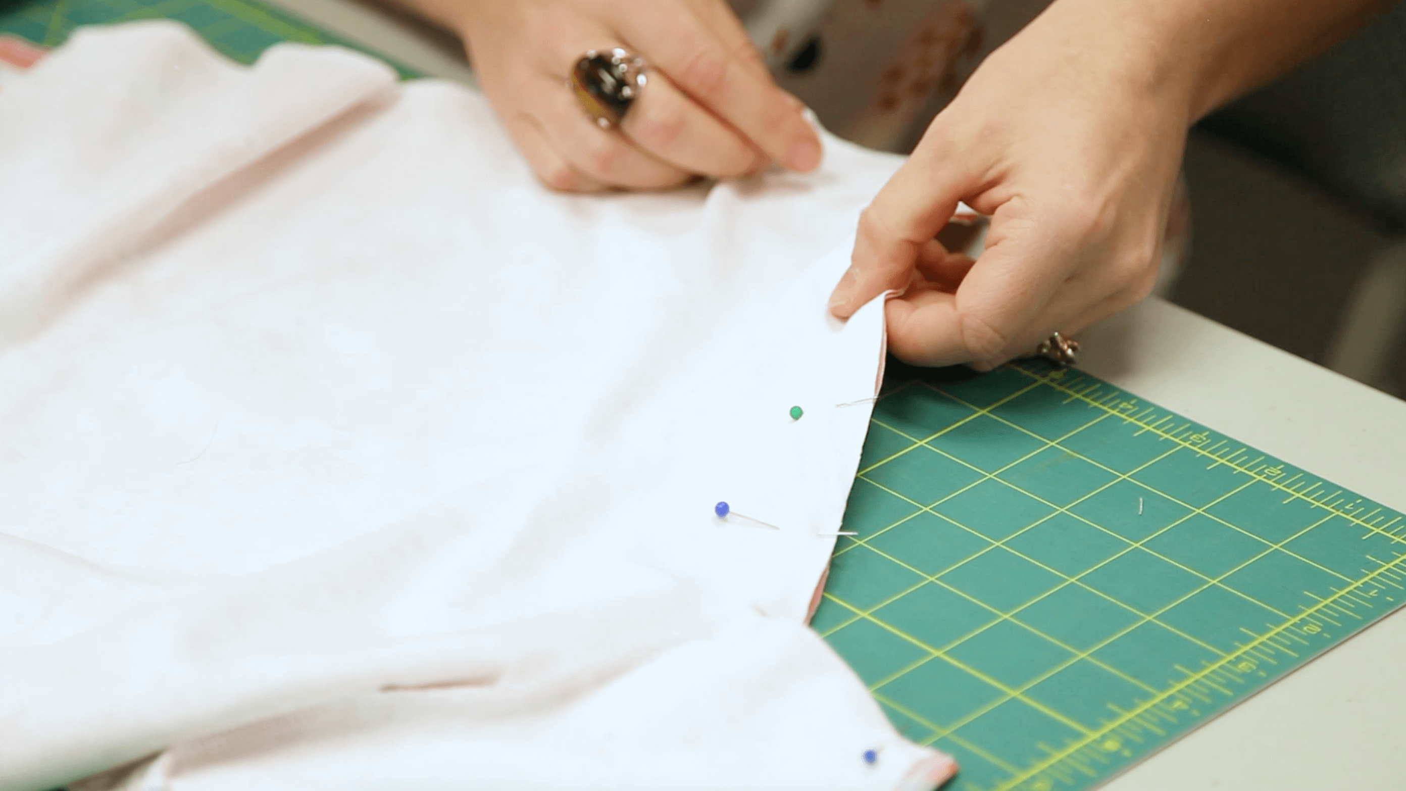 The Essential Toddler Tee - pin the shirt together along the side seams | Spoonflower Blog