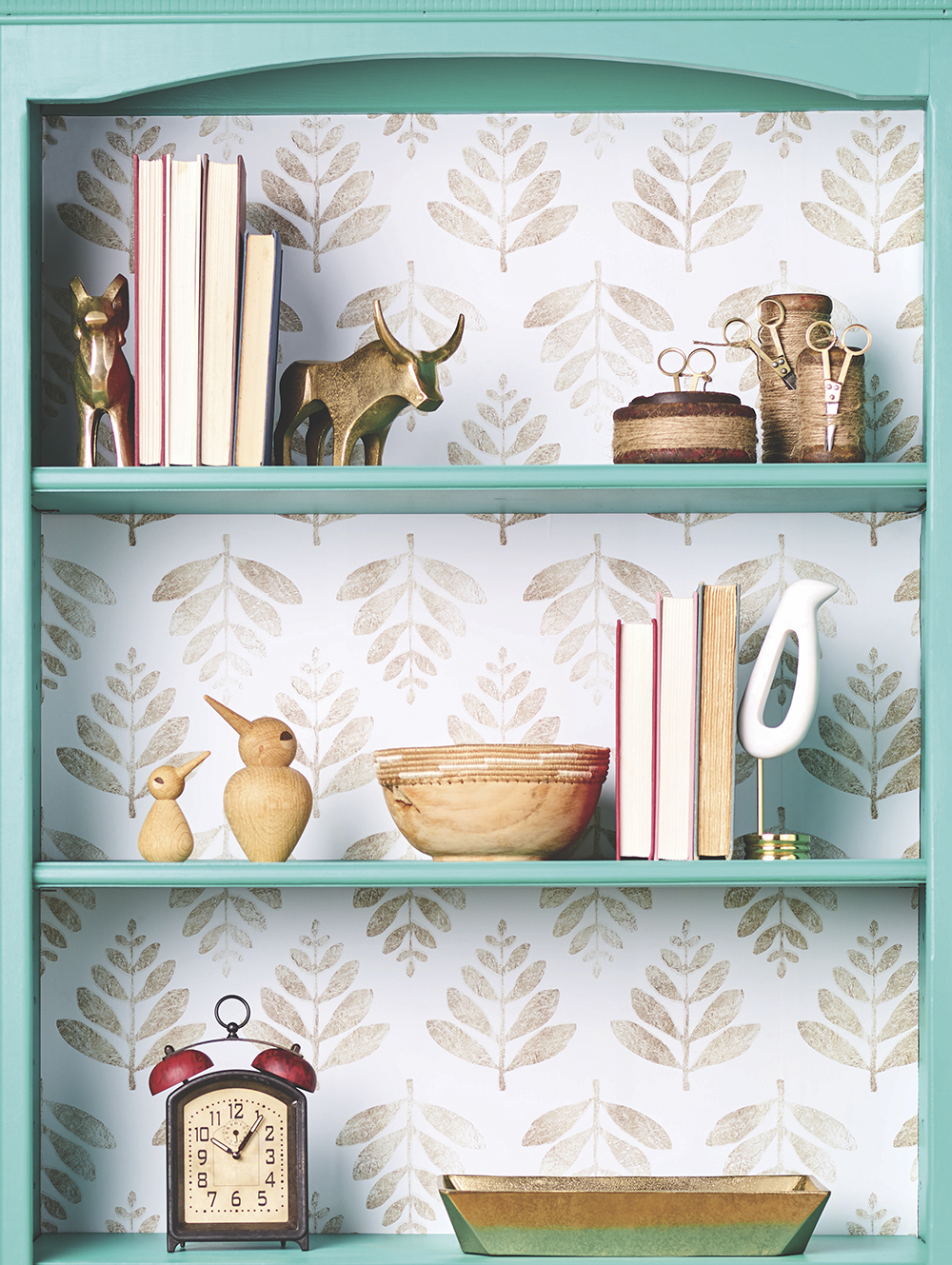 From Drab to Dreamy: A Bookcase Renovation with Wallpaper
