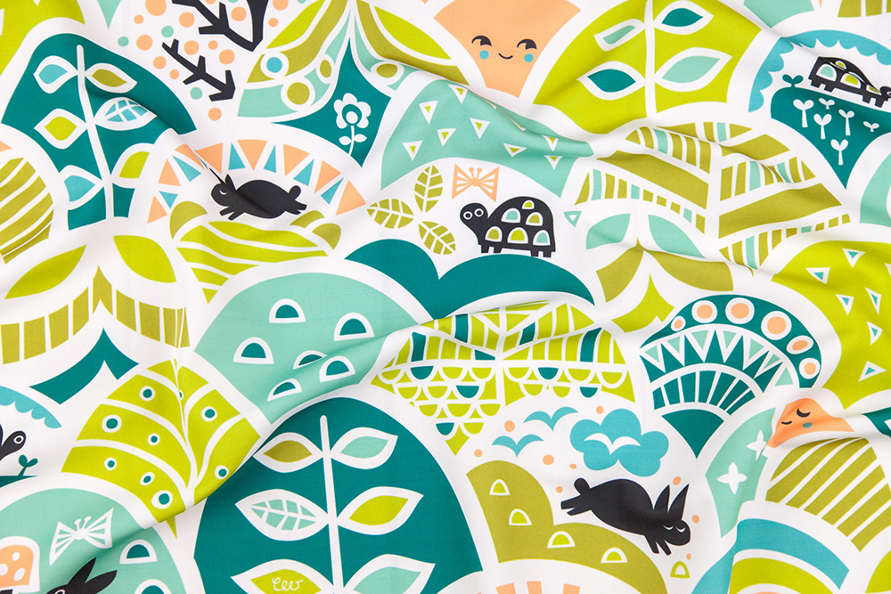 The Tortoise and the Hare Design Challenge Winner: Through Hilly Woods by christinewitte | Spoonflower Blog