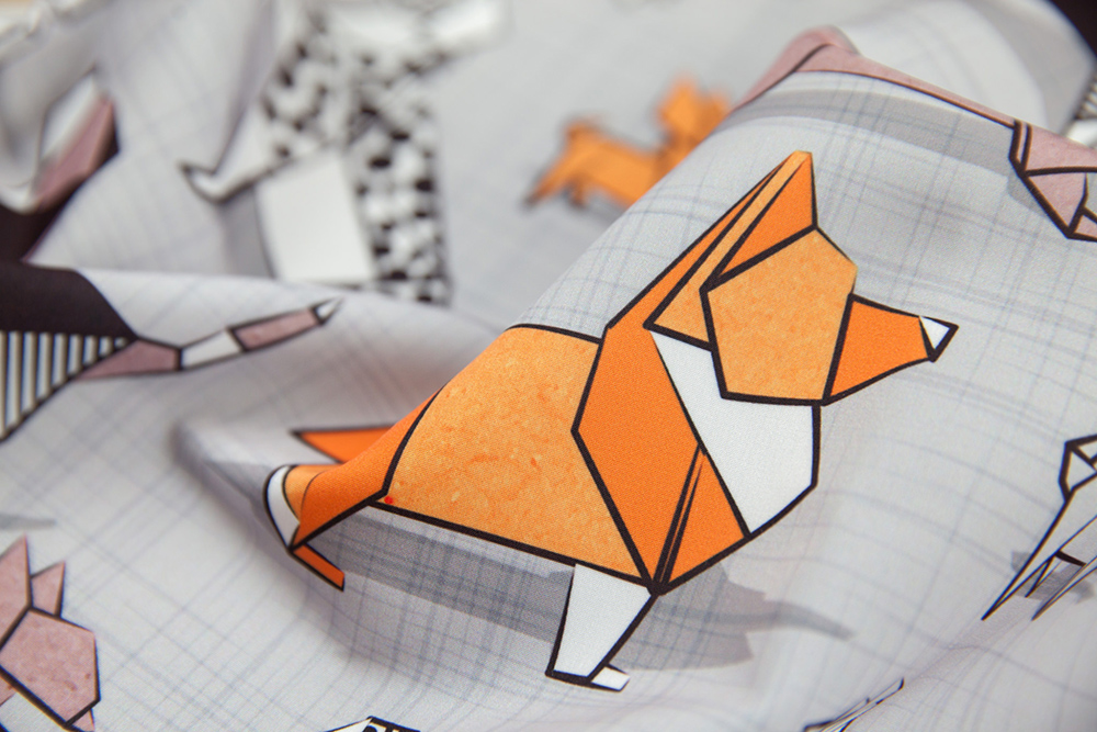 Origami Doggie Friends by selmacardoso | Spoonflower Blog