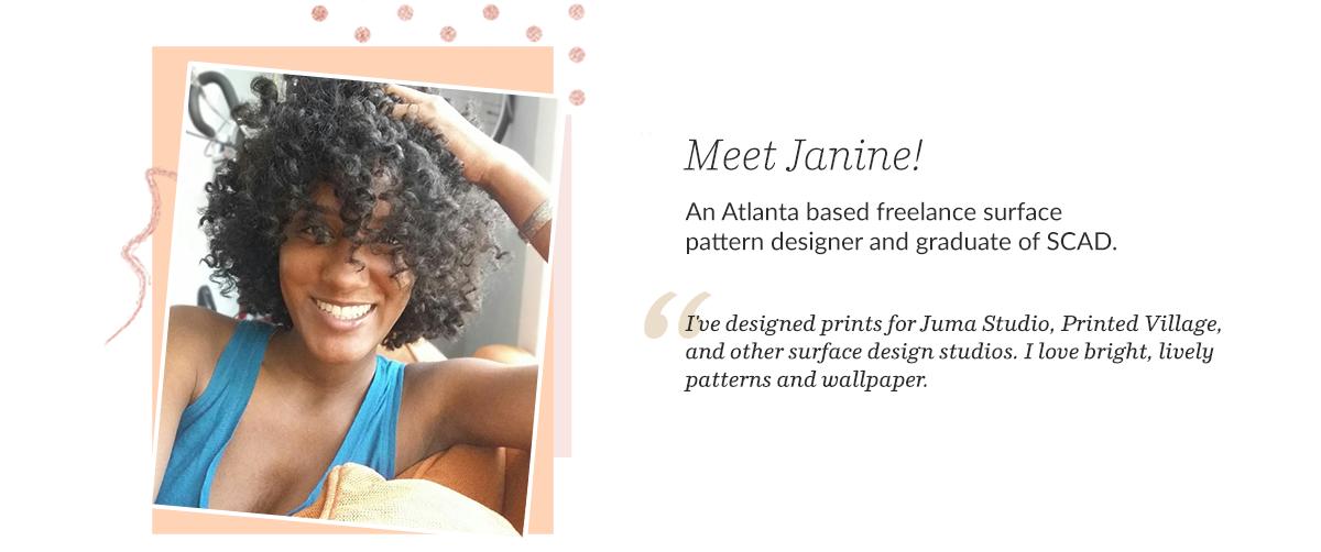Janine Lecour - Black Surface Pattern Designer