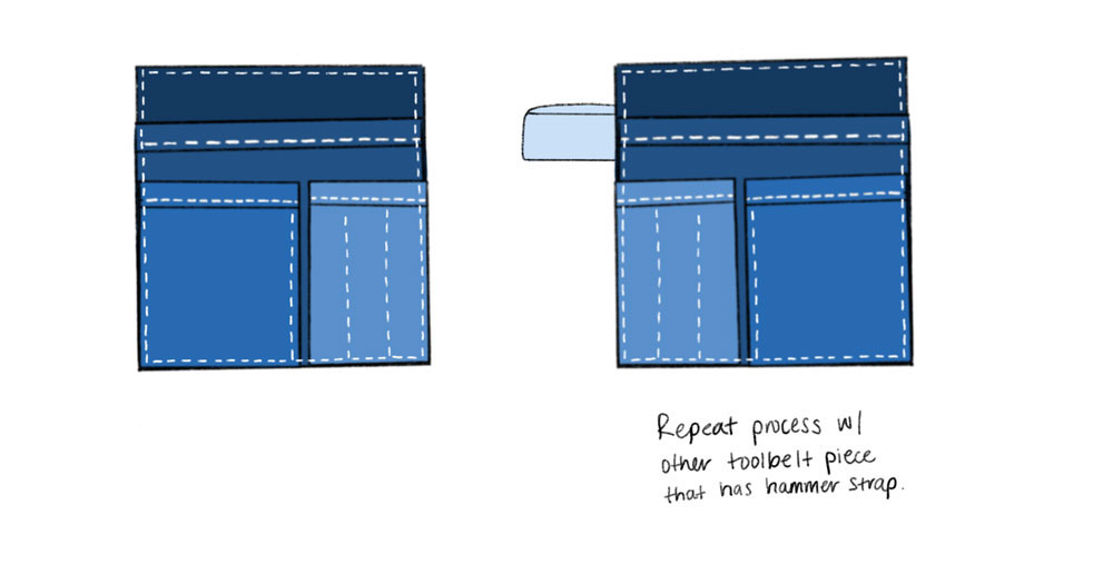 Get Organized with this DIY Tool Belt - attach the large pocket piece   Spoonflower Blog