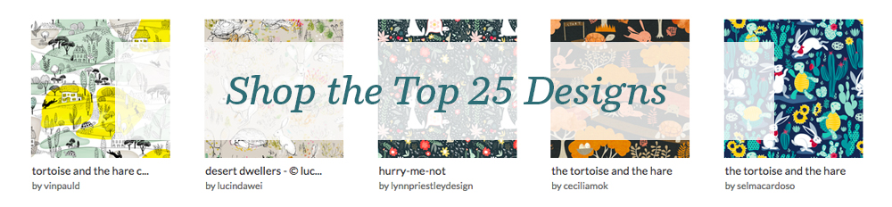 Shop the top 25 Tortoise and the Hare designs | Spoonflower Blog