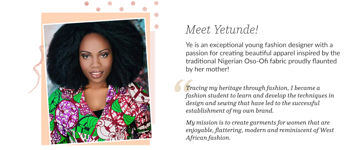 Yetunde Sarumi - Black Sewist + Fashion Designer | Spoonflower Blog