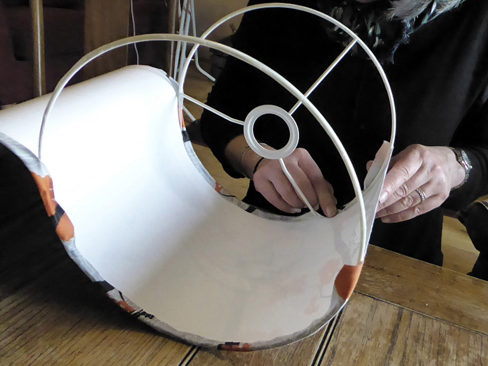 How to Make a Lampshade Using a Kit | Spoonflower Blog