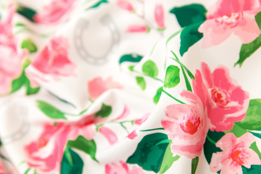 First place winner in The Off to the Horse Races design challenge: Run for the Roses by sarah_treu | Spoonflower Blog