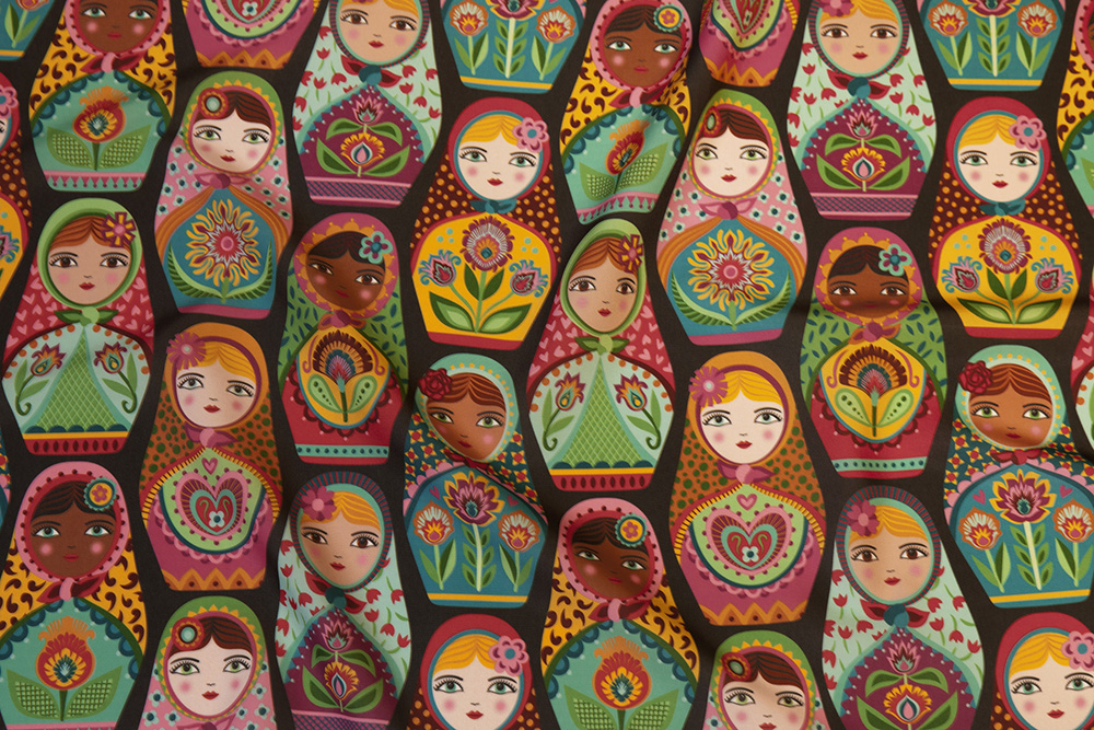 Sisterhood Around the World winner: Irina and Friends by groovity | Spoonflower Blog