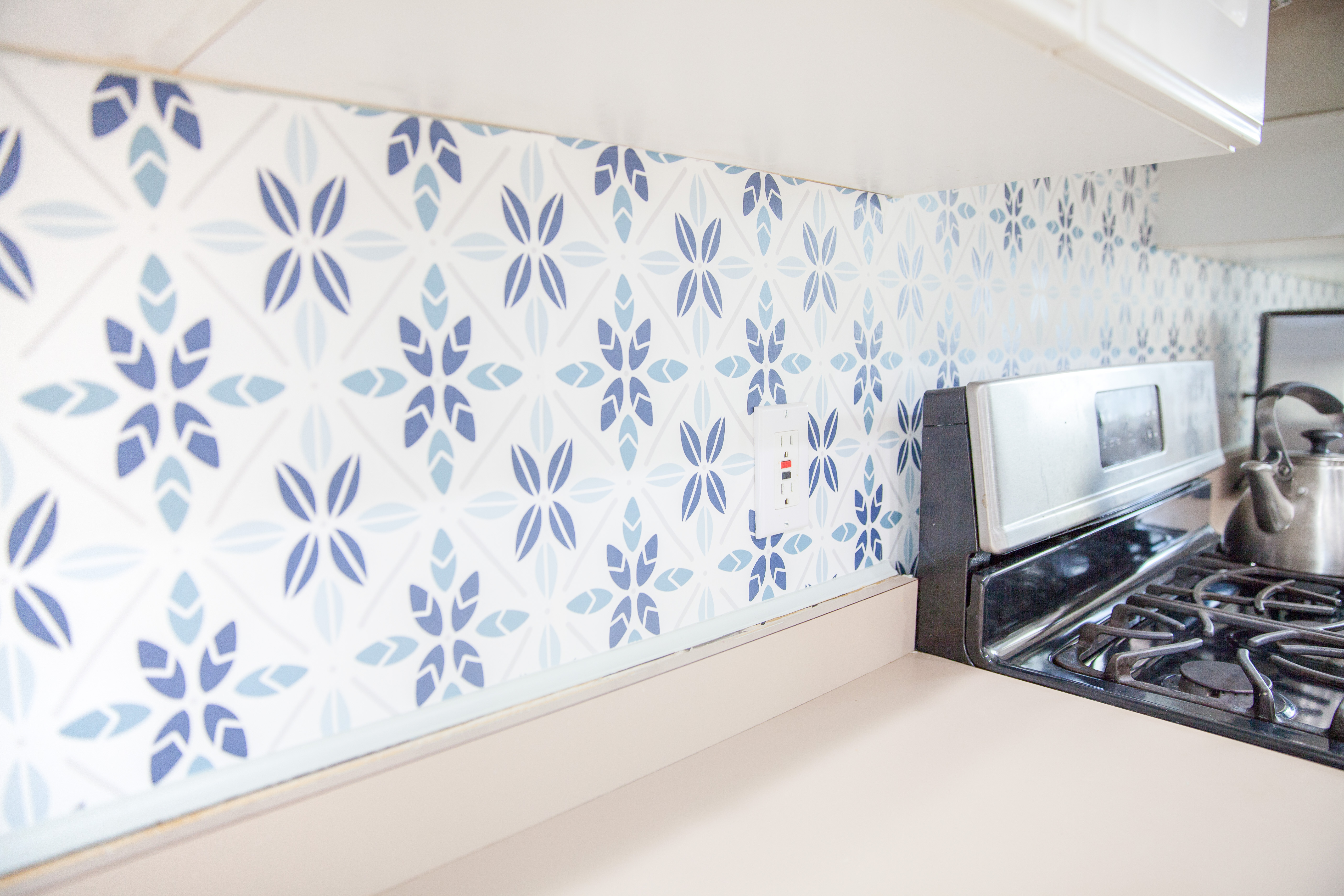DIY Wallpaper Backsplash | Spoonflower Blog