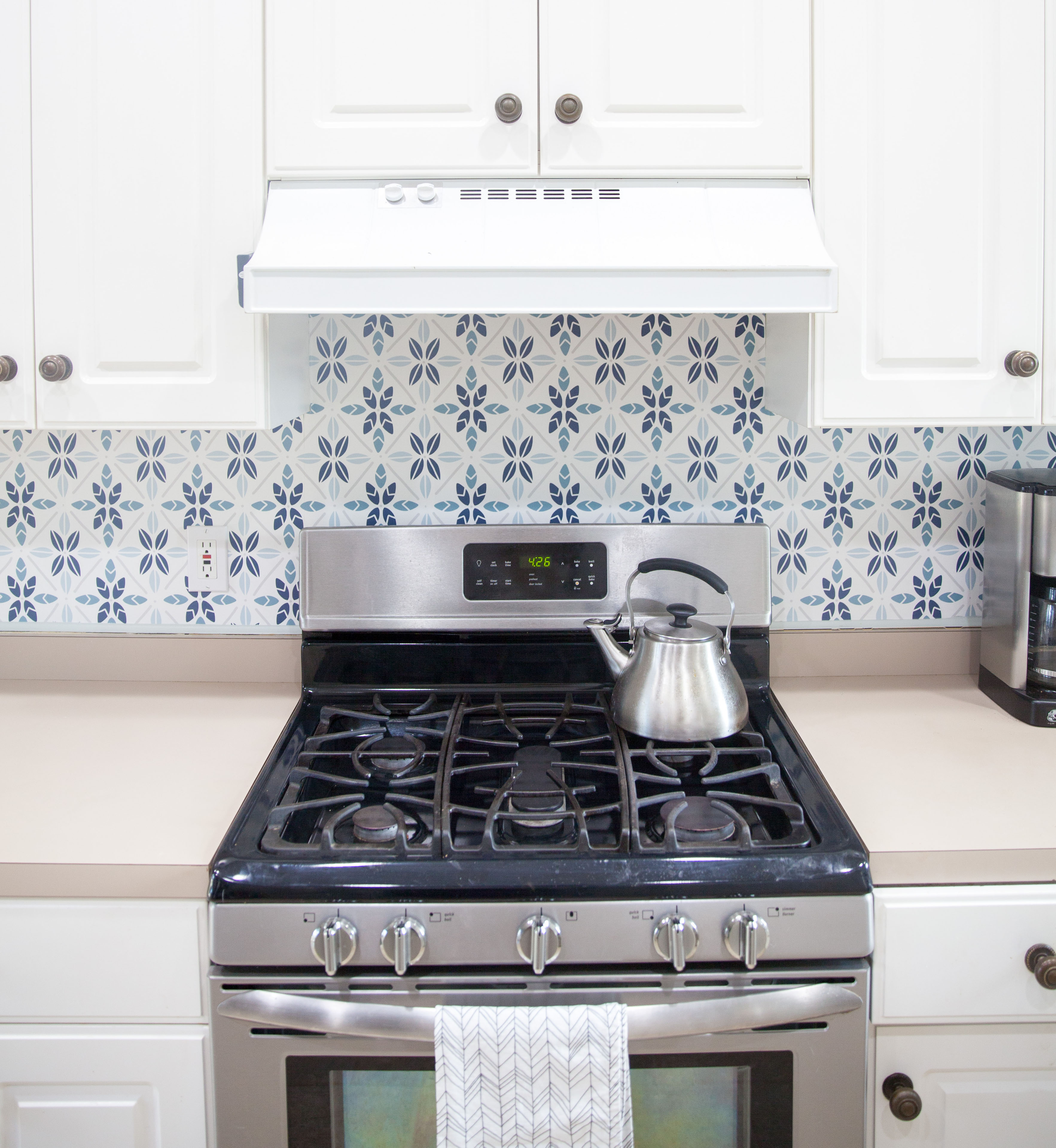 Easy Faux Tile Backsplash With Eco