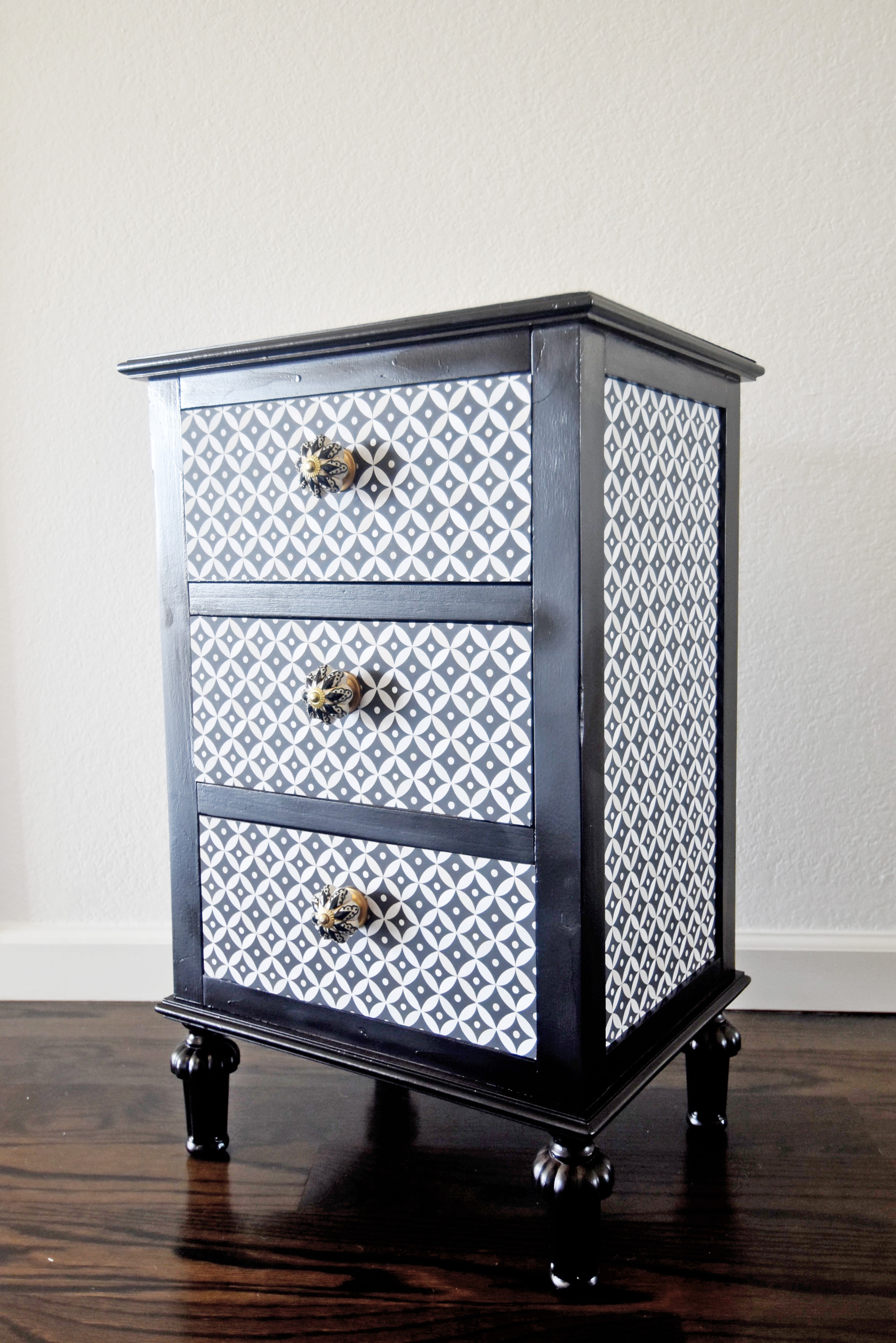 Revamp A Nightstand With Wallpaper Spoonflower Blog