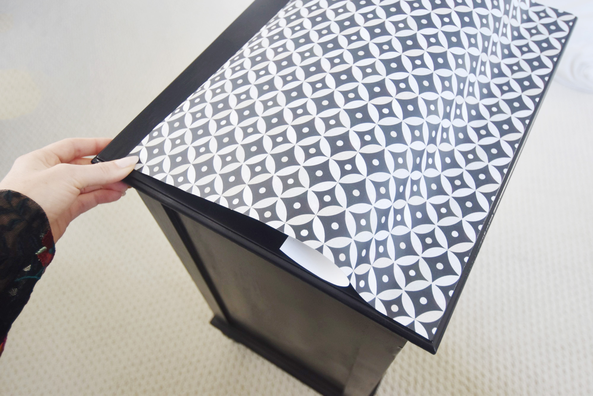 Revamp a Nightstand with Wallpaper | Spoonflower Blog