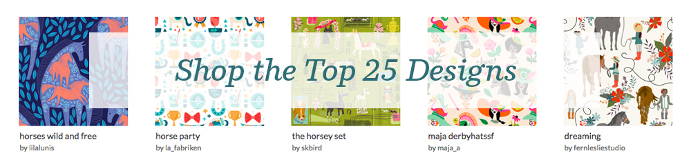 Shop the top 25 Off to the Horse Races designs | Spoonflower Blog