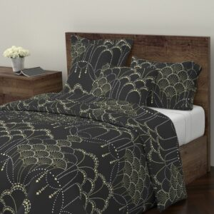 Deco Lace by hannahshields on Roostery's Wyandotte Duvet Cover | Spoonflower Blog