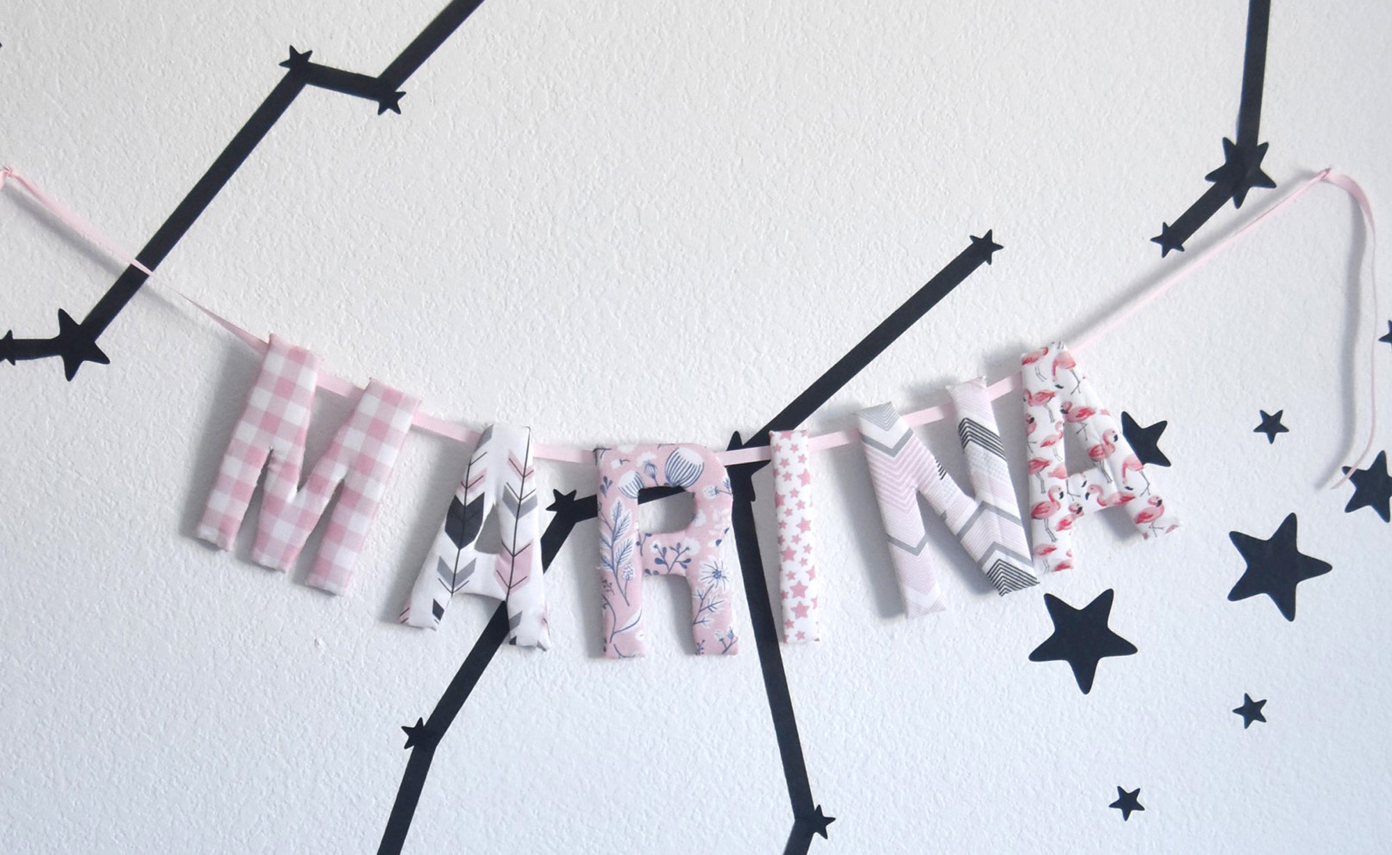 DIY No-Sew Personalized Name Garland | Spoonflower Blog