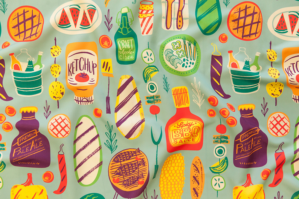 Summer Cookout design challenge winner: Summer in the Garden by lebski | Spoonflower Blog