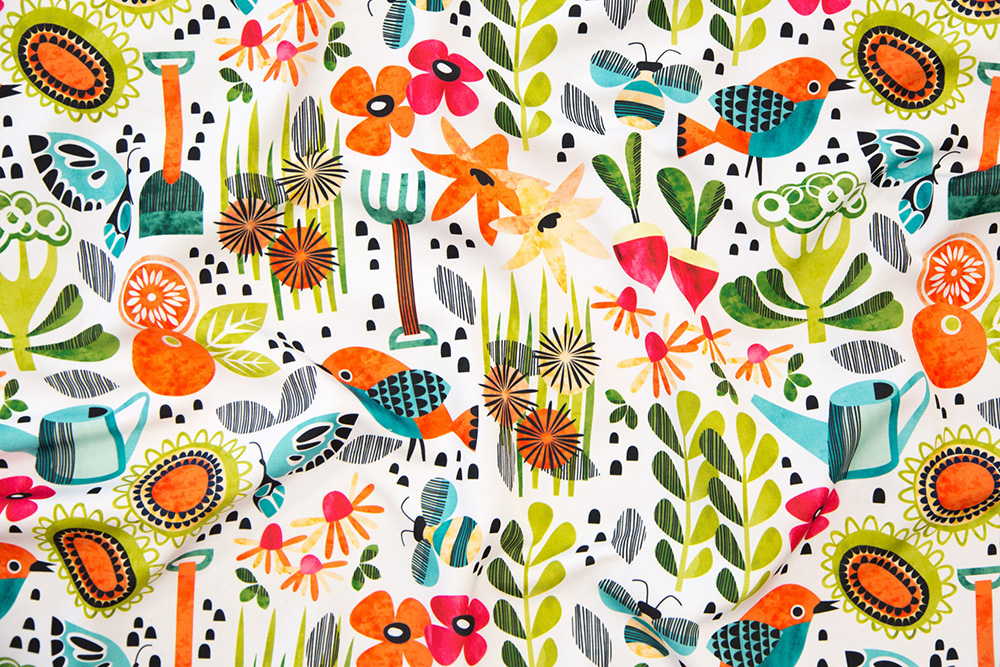Announcing the winner of the Gardening Design Challenge: Good Morning Garden by cjldesigns | Spoonflower Blog