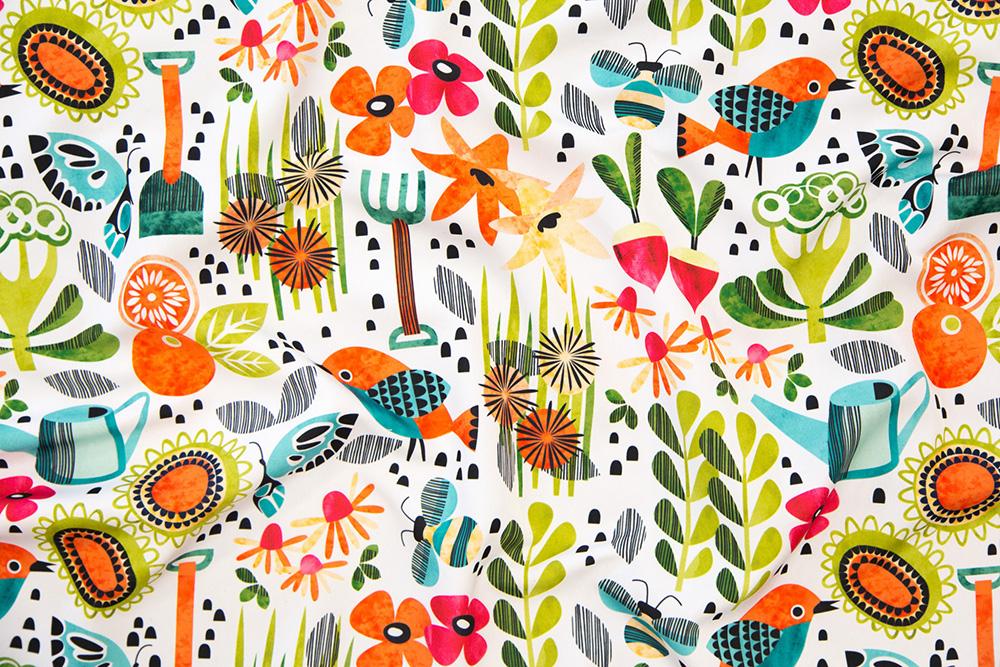 Announcing the winner of the Gardening Design Challenge: Good Morning Garden by cjldesigns | Spoonflower Blog