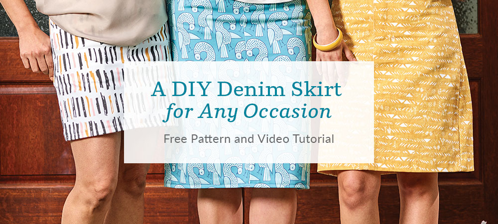 Make Your Own Denim Skirt for Any Occasion - Free Pattern and Video Tutorial | Spoonflower Blog